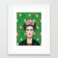 frida khalo Framed Art Prints featuring Frida Khalo by Artusual