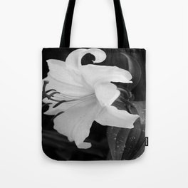 WHITE DHALIA Tote Bag