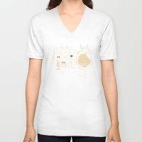 miyazaki V-neck T-shirts featuring Tribute for Miyazaki by le.duc
