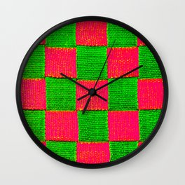 Canvas Straps Wall Clock