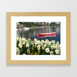 Swiss Riviera lakeside IV Framed Art Print