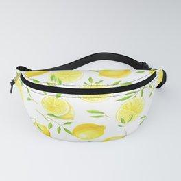 Lemons and leaves  Fanny Pack