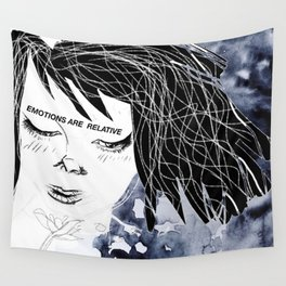 Emotions are relative Wall Tapestry