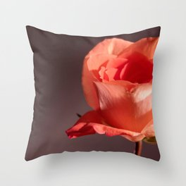 Falling Petals Throw Pillow