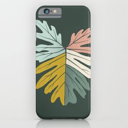 Midcentury Tropical Leaves iPhone Case