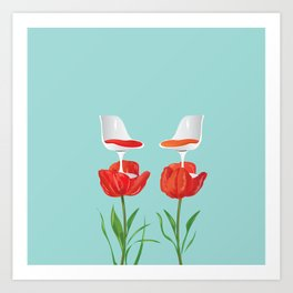 Tulip a chair and stay a while Art Print