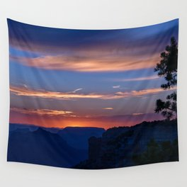 Colorful Sunset - North_Rim, Grand_Canyon, AZ Wall Tapestry