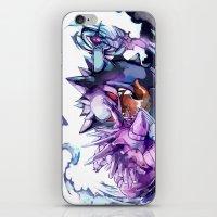 gengar iPhone & iPod Skins featuring Nidorino vs Gengar by Sa-Dui