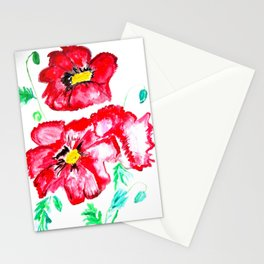 Poppy in the sun Stationery Cards