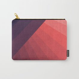 Abstract Geometric Line Gradient Pattern between Dark Blue and Very Soft Red Carry-All Pouch