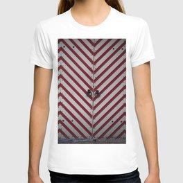 Striped door T-shirt