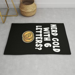 Nerd Gold With 6 Letters Crossword Bitcoin Gift Rug