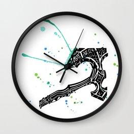 Watercolor Axe Wall Clock