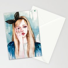 Alice cries Stationery Cards
