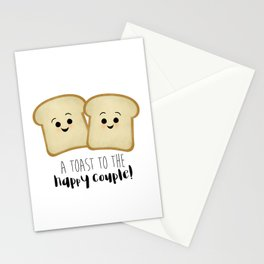 A Toast To The Happy Couple! Stationery Cards