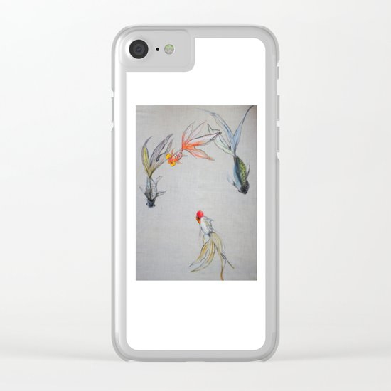 Goldfish Pond (close up #8) Clear iPhone Case