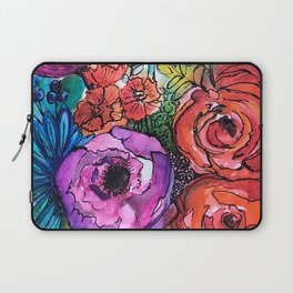 """Full Bloom"" Floral Laptop Sleeve"