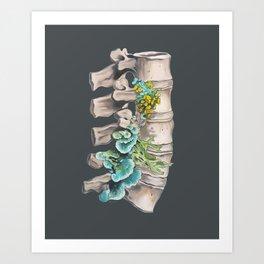 Floral Lumbar Spine Art Print