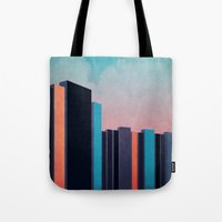 skyline Tote Bags featuring Skyline by Liall Linz