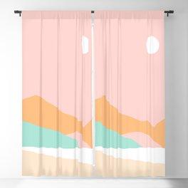 Summer Palette Minimal Seascape 1 Blackout Curtain