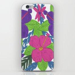 Tropical Hibiscus Bouquet iPhone Skin