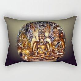 Gold Buddha Rectangular Pillow
