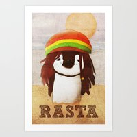 reggae Art Prints featuring Reggae by cristi-scg