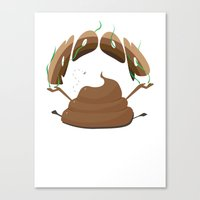 poop Canvas Prints featuring Poop by Slemdawg Hundredaire