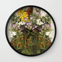Wildflowers Wall Clock