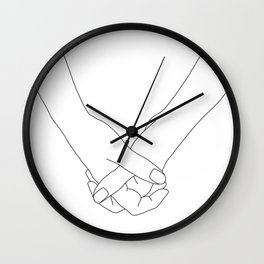 Hands line drawing illustration - Lala Wall Clock