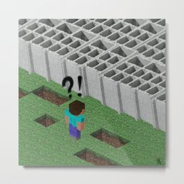 Mine craft reality Metal Print