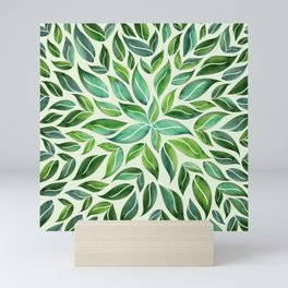 Spring Leaf Mandala Mini Art Print