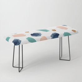 turquoise, navy, pink & gold Bench