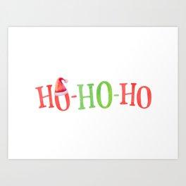 HO HO HO Christmas Elements Design Art Print