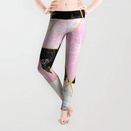 Geometric 884 // Sweet Peony Leggings