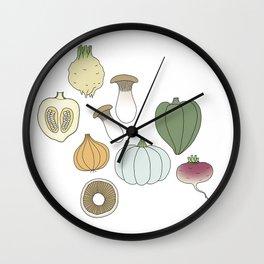 Vegetables (color) Wall Clock