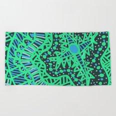 Doodle 16 Blue Beach Towel