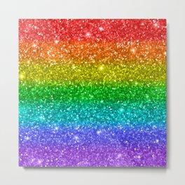 Glitter Rainbow Pattern Metal Print