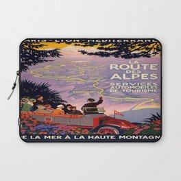 Vintage poster - Route des Alpes, France Laptop Sleeve