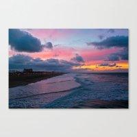 calendars Canvas Prints featuring Huntington Beach Sunrise 1/31/14 by John Minar Fine Art Photography