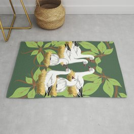 12 Days of Christmas: Six Geese A Laying  Rug