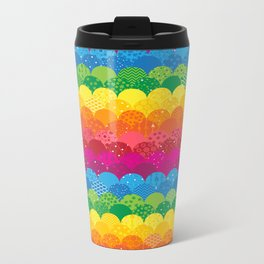 Waves of Rainbows Metal Travel Mug