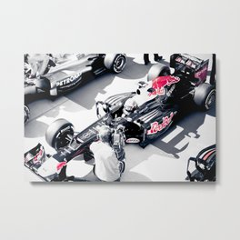 Vettel on Pole, COTA Metal Print