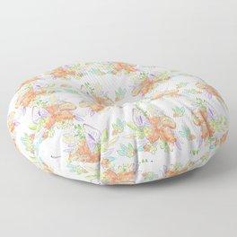 Tropical Leilee Hawaiian Flower Print Floor Pillow