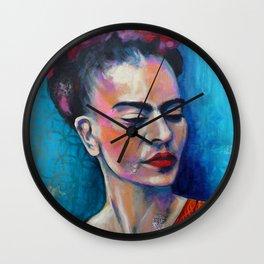 Je te ciel, hommage à Frida Kalos Wall Clock