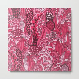 Paisley Pop Tangle #6 Metal Print