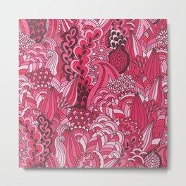 Paisley Pop Tangle #6 Metal Print