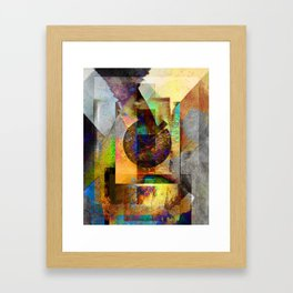 Abstract Geometric Industrial Grunge Art Framed Art Print