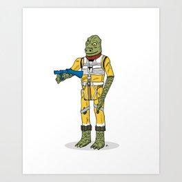 Bossk Action Figure Art Print