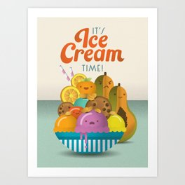 Ice Cream Craze Art Print